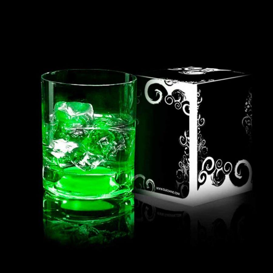 Бокал светящийся для виски GlasShine Зеленый